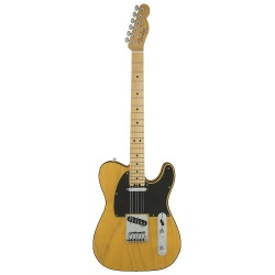 Fender®  American Elite Telecaster w/ Maple Fingerboard - Butterscotch Blonde 011-4212-750