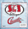 SCH102 Classits Clear Nylon/Silver Wound Tie-End High Tension Classical Guitar Strings