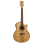 Dean EQA Exotic Quilt Ash Acoustic/Electric Guitar - Gloss Natural