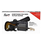 Fender® 030-1814-032 Fender Stop Dreaming Start Playing Guitar Package HSS Strat Brown Sunburs