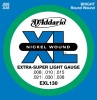 D'Addario EXL130 Nickel Wound Extra Super Light Electric Guitar Strings