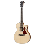 Taylor Guitars  200 Series Grand Auditorium Koa/Sitka Cutaway Acoustic/Electric Guitar 214CE