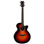 Dean  Performer Steel String Acoustic/Electric Guitar - Tobacco Sunburst PETSB