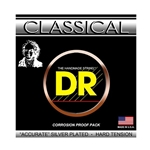 DR Strings NSA Silver Plated Hard Tension Classical Guitar Strings .028 | .044