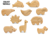 Green Tones  Wooden Animal Shakers GT3785
