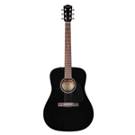 Fender®  CD-60 Steel String Acoustic Guitar w/ Case  Starter Pack- Black 097-0110-206