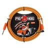 "Pig Hog  ""Orange Cream"" Instrument Cable, 10ft Right Angle (PCH10CCR)"