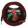 "Pig Hog  ""Tartan Plaid"" Instrument Cable, 20ft Right Angle (PCH20PLR)"