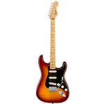Fender®  Rarities Series Stratocaster w/ Flame Ash Top & Birds Eye Maple Neck - Plasma Red Burst 017-6502-873
