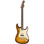Fender®  Rarities Series Stratocaster Thinline HSS w/ Solid Rosewood Neck - Violin Burst 017-6501-833