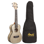 Amahi  Flamed Maple Concert Ukulele w/ Gig Bag C550