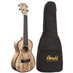 Amahi  Spalted Maple Concert Ukulele w/ Gig Bag C770