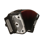 Hohner  Panther 3 Row Diatonic Accordion - GCF HA3100GB