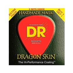 DR Strings DSA-2/12 Dragon Skin Phosphor Bronze Hexagonal-Core Light Acoustic Guitar Strings .012 - .054