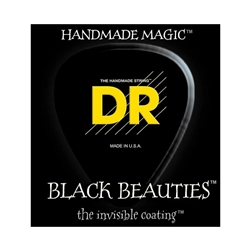 DR Strings BKE-10 Black Beauties Black Phosphor Bronze Hexagonal-Core Medium Electric Guitar Strings .010 | .046
