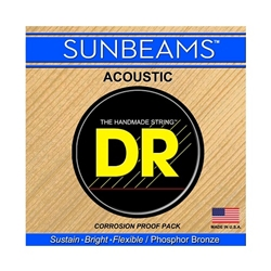 DR Strings RCA-12 Sunbeam Phosphor Bronze Round-Wound Light Acoustic Guitar Strings .012 | .054