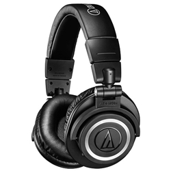Audio Technica  Professional Studio Wireless Bluetooth Over-Ear Headphones - Black ATH-M50XBT